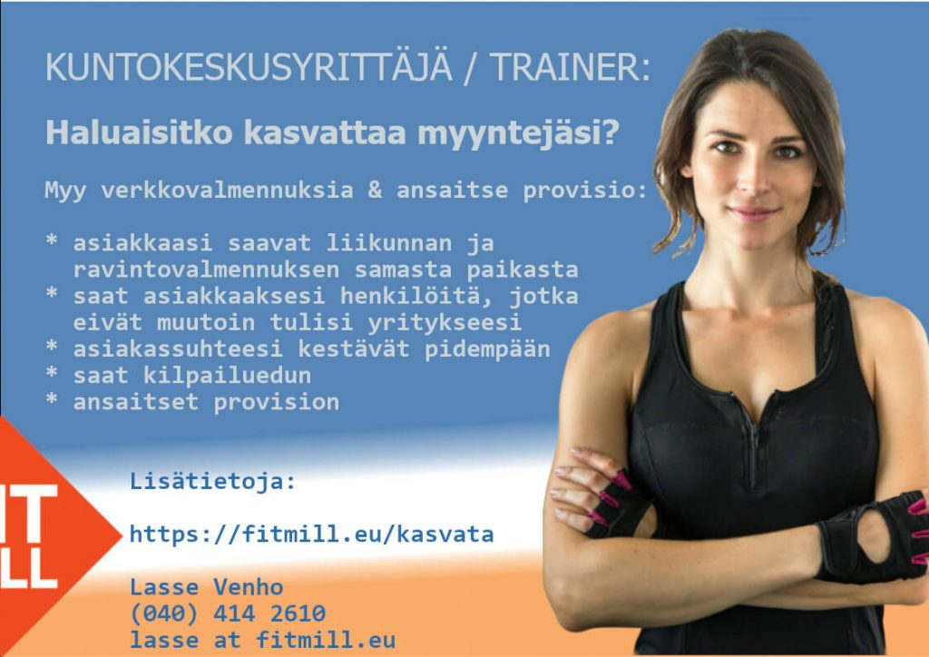 Lasse Venho, Personal training, ravintovalmennus netissä, verkkovalmennus